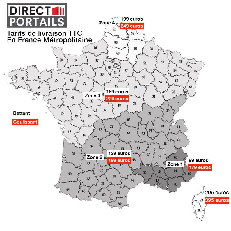 Livraison des portails fers et des portails aluminiums, portillons fer et cloture de direct portail, livraison en France
